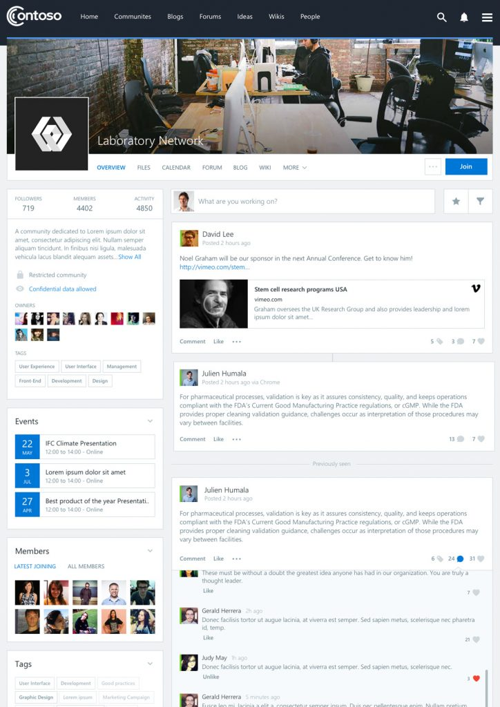 Social community in SharePoint using Beezy