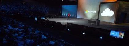 Scott Guthrie speaking at Microsoft Ignite 2016