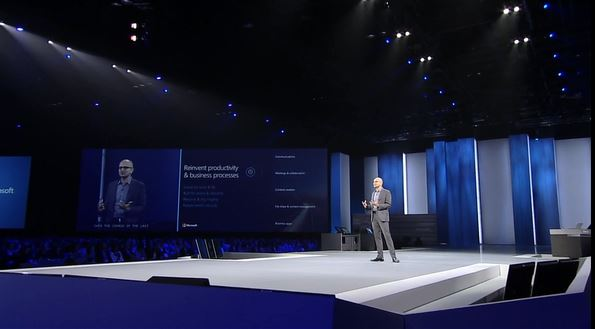 Satya Nadella at Microsoft WPC15