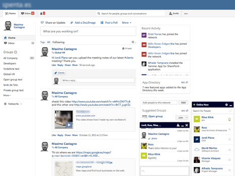 Yammer in 2013