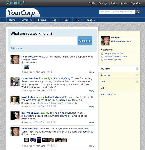 yammer in 2009