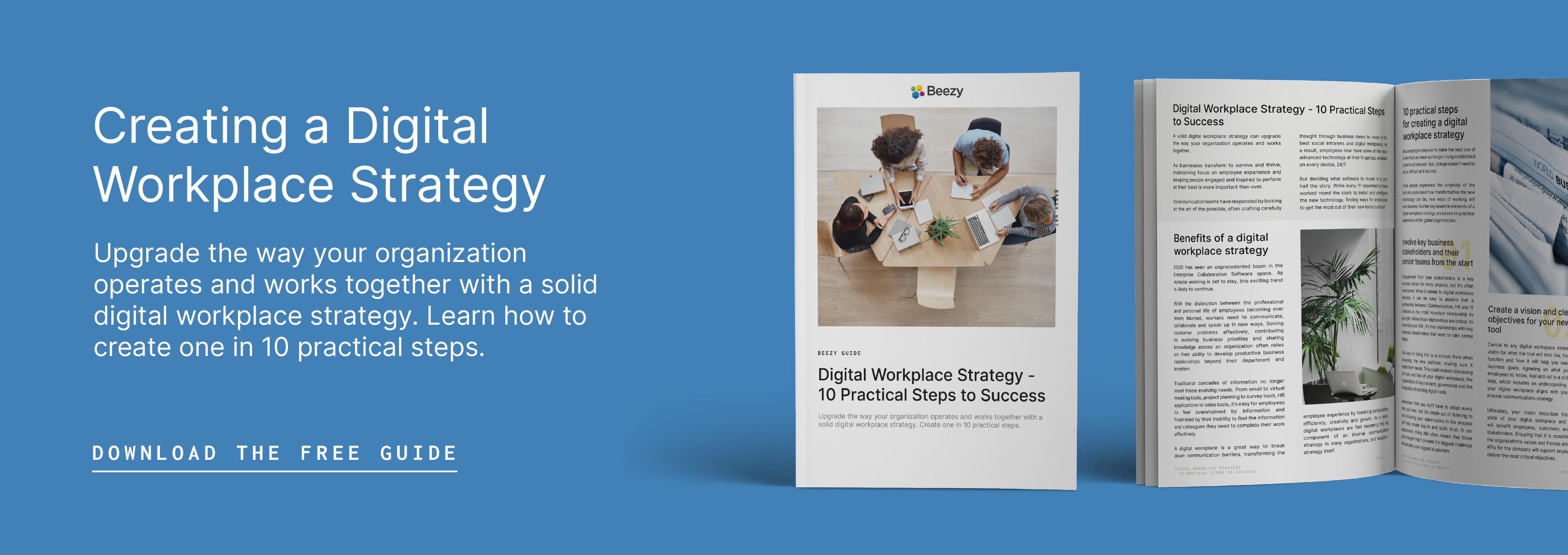 Digital Workplace Strategy CTA